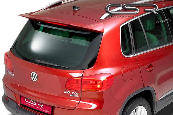 VW Tiguan Rear Roof Spoiler - GRP [Image 2]