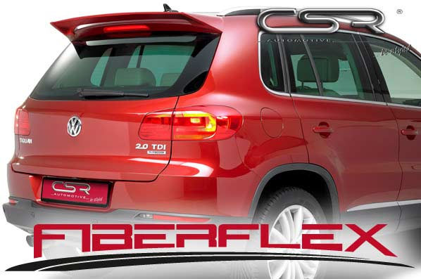 VW Tiguan Rear Roof Spoiler - GRP