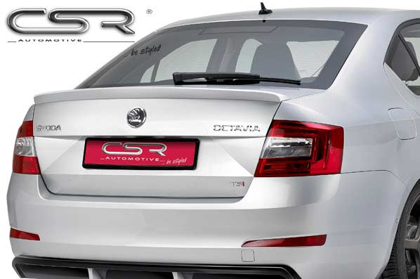 Skoda Octavia 3 Saloon (2012 on) Boot Spoiler-GRP