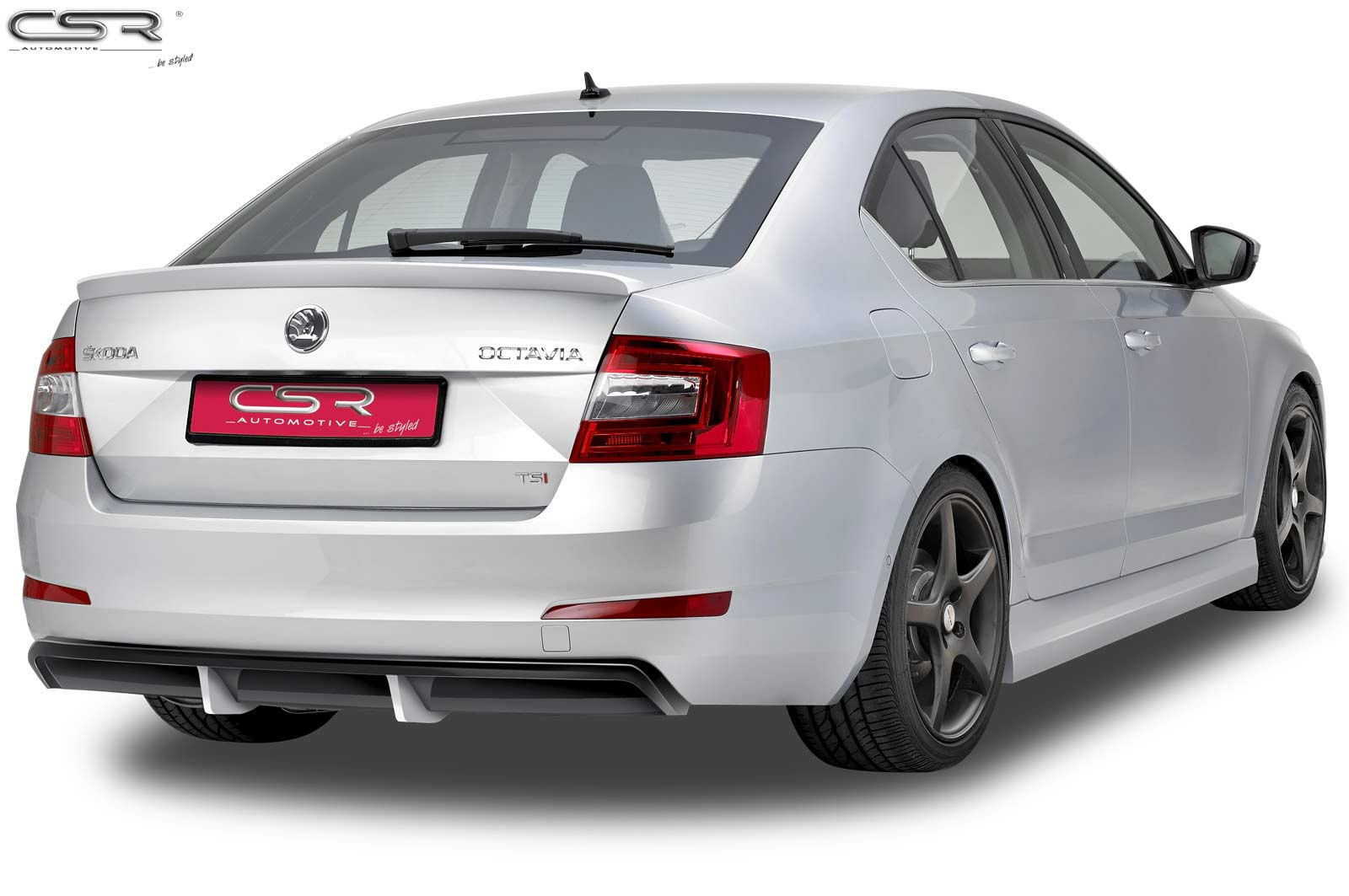 Skoda Octavia 3 Saloon (2012 on) Boot Spoiler-GRP [Image4]