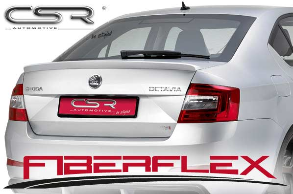 Skoda Octavia 3 Saloon (2012 on) Boot Spoiler-GRP [Image 2]