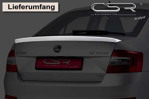 Skoda Octavia 3 Saloon (2012 on) Boot Spoiler-GRP [Image 5]