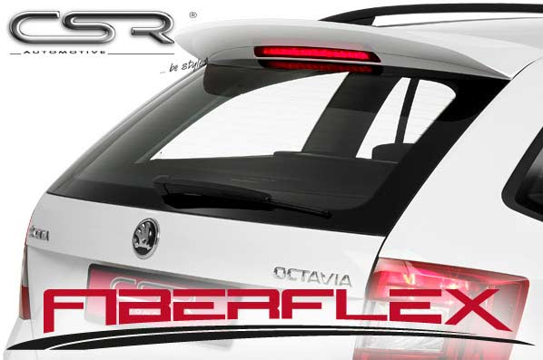 Skoda Octavia 3 Estate (2012 on) Roof Spoiler-GRP