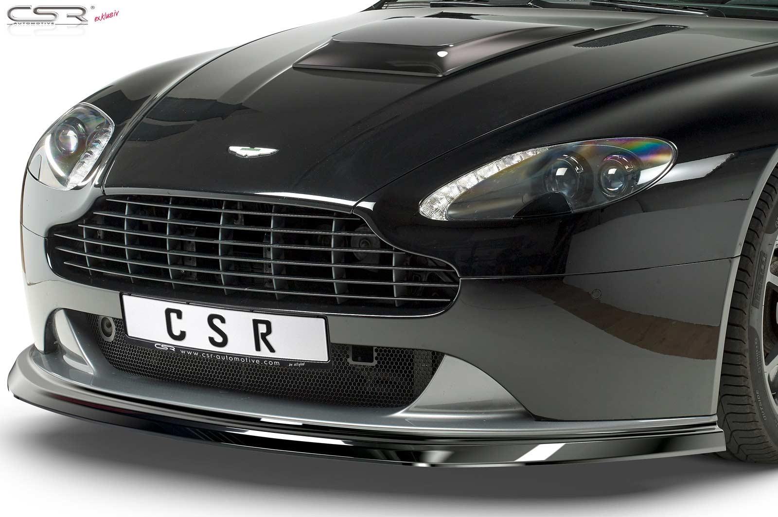 Cupspoilerlip Black Glossy For Aston Martin Vantage Csl392 G