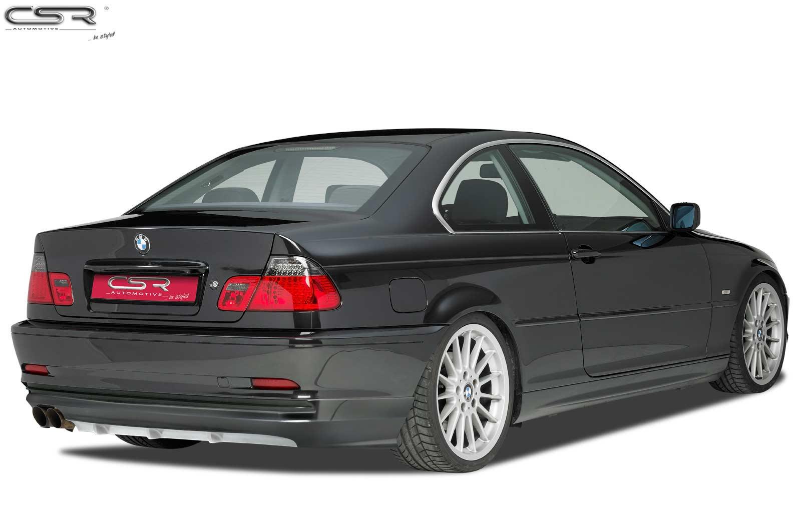 Heck Ansatz Einsatz Spoiler Tuning Diffusor für BMW 3er E46 Coupé//Cabrio HA188