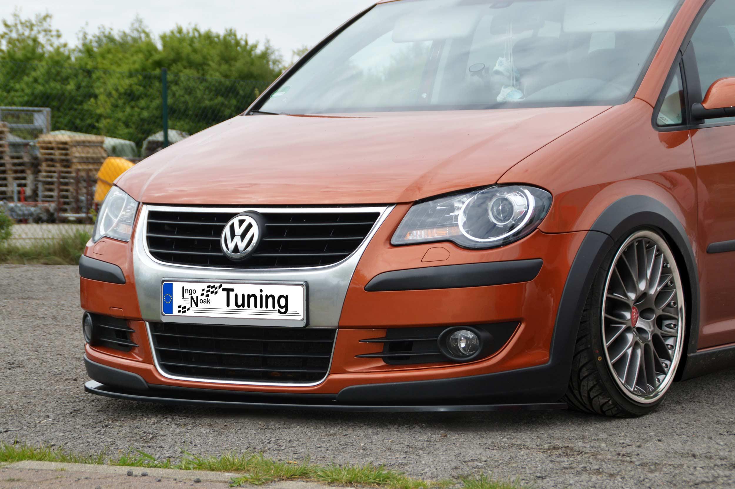 Front Ansatz Spoiler Schwert Diffusor Lippe Tuning für VW Touran FA045