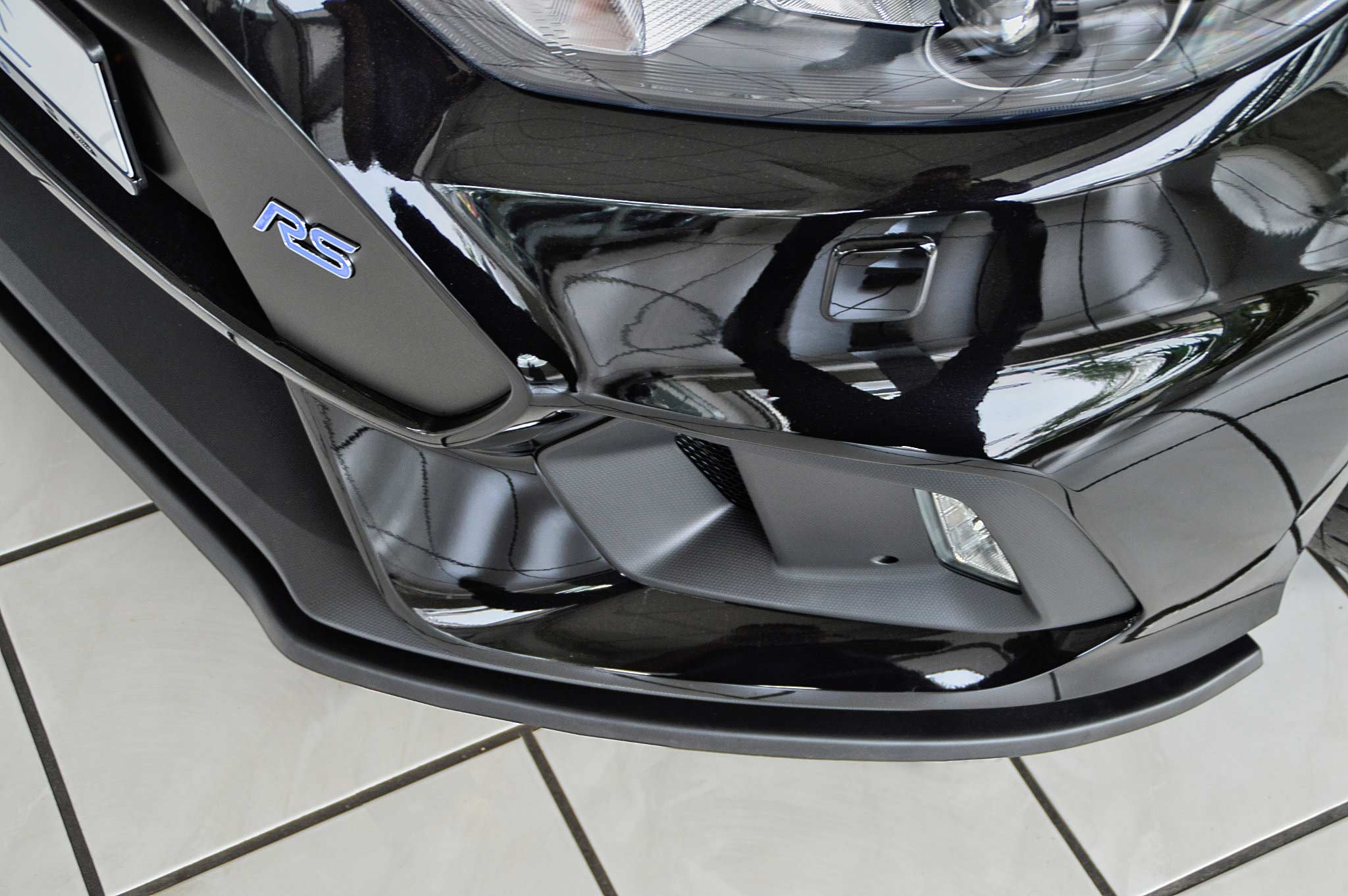 Spoilerschwert Frontspoiler aus ABS Ford Focus 3 RS DYB ABE Carbon Optik