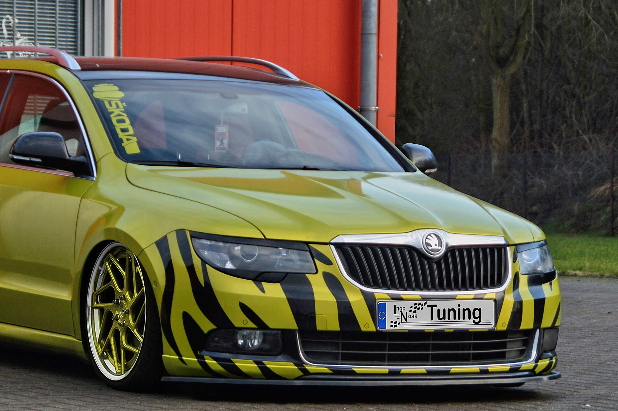 In Tuning Cupspoilerlip Glossy For Skoda Superb Ii 3t Styling Stossstange