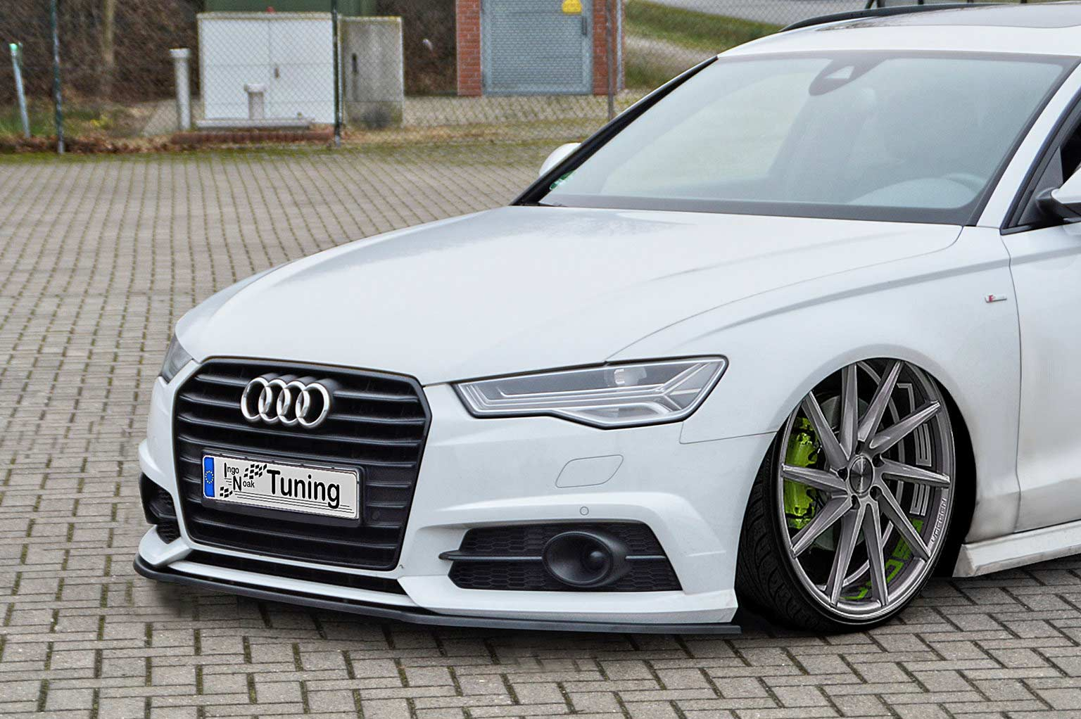 In Tuning Cupspoilerlip Glossy For Audi A6 C7 Typ 4g Facelift S Line