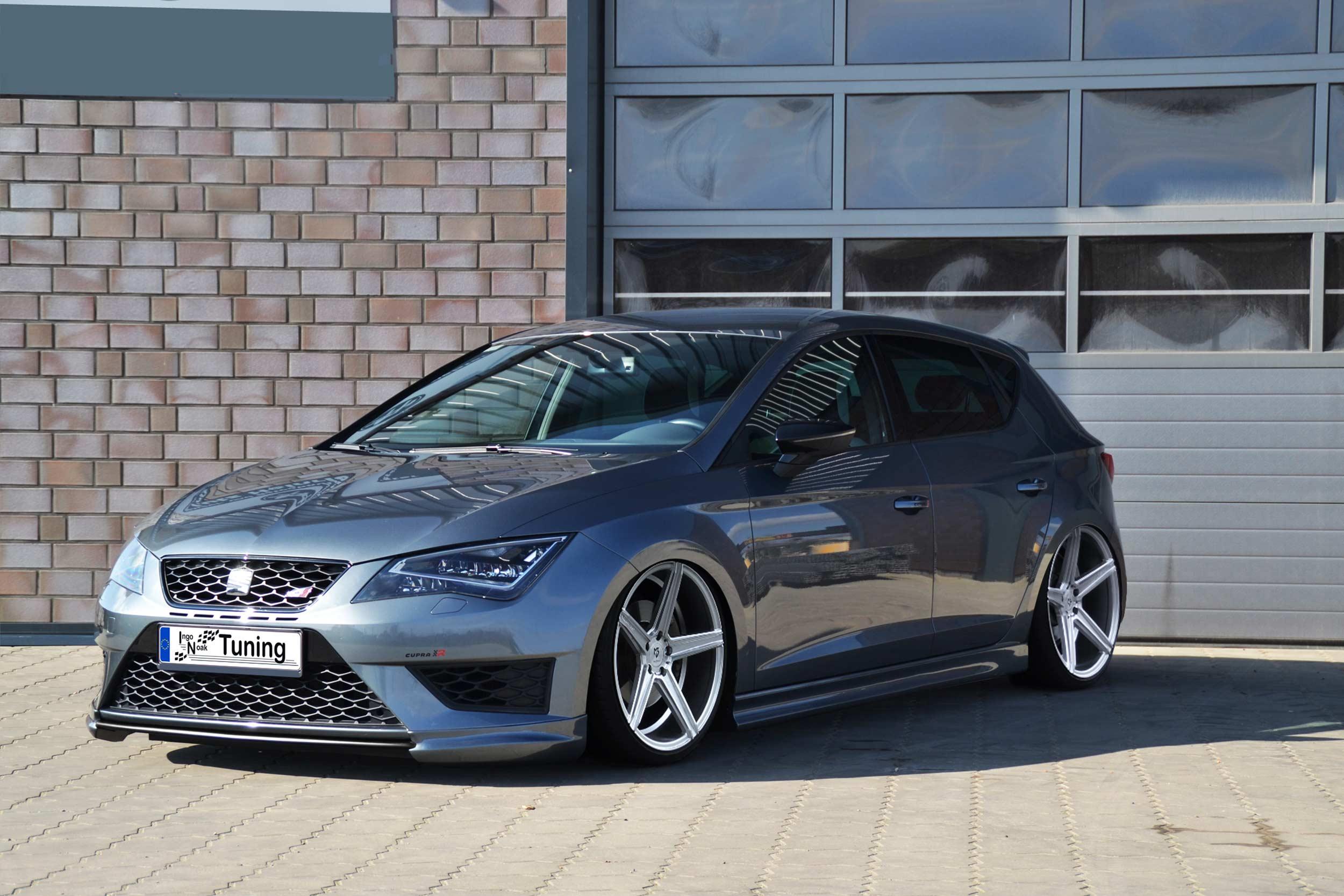 Spoilerschwert Frontspoiler Lippe Splitter für Seat Leon 5F Cupra R aus ABS ABE